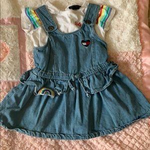 Tommy Hilfiger Jean dress with matching shirt